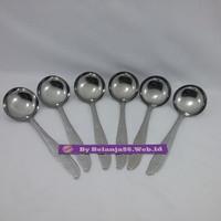 6 Pcs Sendok Sayur Stainless Steel - Kecil