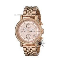 Jam Tangan Fossil Wanita Boyfriend Rantai ES3380 Rose Gold Original
