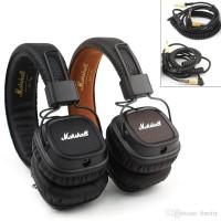 Headphone Headset Marshall Major 2 II Bonus Free Pouch - Hitam
