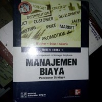 Original | Buku MANAJEMEN BIAYA | Edisi 5 Buku 1 | Blocer; Stout; dkk.