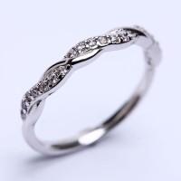 RL 172 - Ring Silver Emas Putih ASLI, Made in Korea-Garansi 6 bulan
