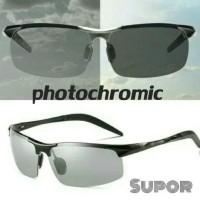 Kacamata Polaroid Photochromic Sport Sunglasses Otomatis hitam anti UV