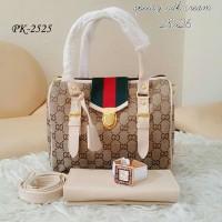 Tas Wanita Paket Model GC Sodok lengkap dengan Dompet dan Jam Tangan