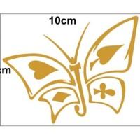 Stiker / Sticker Cutting Butterfly / Kupu Kartu