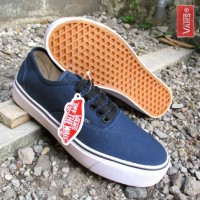 SEPATU VANS AUTHENTIC BIRU NAVY GRADE ORIGINAL SOL ICC SIZE 39 - 43