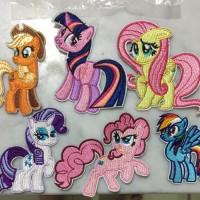 1 set isi 6 iron patch import kuda pony mlp little pony bordir tempel