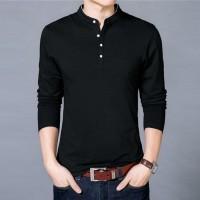 [shirt smith black OT] kaos pria lengan panjang hitam