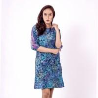 Batik Pria Tampan - Dress Side Lace Sorbus Leaves Kombinasi Bruklat - Denim, S