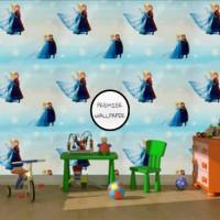 Animasi Frozen Biru Wallpaper| 45CM x 10M