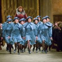COSTUME FLEUR DELACOUR film harry potter coat dan dress biru cosplay