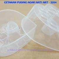 CETAKAN PUDING AGAR HATI ART - 3204 ISI 2 PC