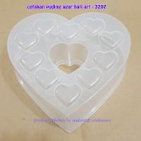 CETAKAN PUDING AGAR HATI ART - 3207 22 CM