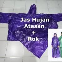 MURAH ROK Jas Hujan Cewek Muslimah Plastik Tebal Jaket Celana Raincoat