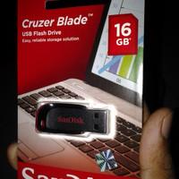 USB Flash Disk Original 16 GB Cruzer Blade Sandisk
