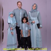 Baju Muslim Sarimbit Keluarga Nibras Family 53 Toska Couple Back Satin