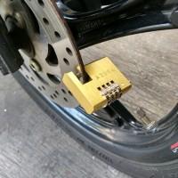 Gembok Cakram Gembok Disc Kuningan, tahan karat, Gembok Motor Yamaha