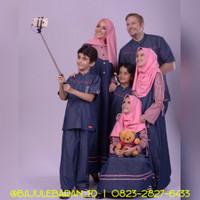 Baju Muslim Sarimbit Keluarga Nibras Family 51 Pink Couple Blue Jeans