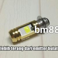 Headlamp Led 2 Sisi Emitter Kotak - M5 / H6 Bebek Matic Lampu Utama