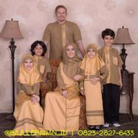 Baju Muslim Sarimbit Keluarga Nibras Family 53 Kuning Couple Back Sati
