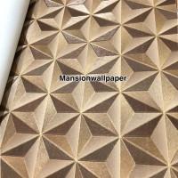 Wallpaper Dinding Modern 3D Gold Star Design