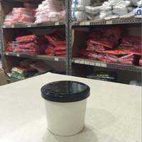 Paper Cup Ice Cream & Tutup Tebal & Sendok Uk. 4 oz -isi 50 pcs