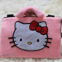 softcase/tas laptop,netbook,notebook lucu Hello Kitty Pink