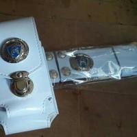 Paket Kopel + Tempat Hp Double 6 inch Kulit Provos Polri