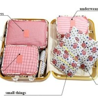6 in 1 Travel Bag in Bag Organizer / Tas Pouch Organizer /Tas Dalam Ko