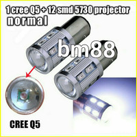 Lampu Rem Led Cree + 12 SMD 5730 Projector Normal - 1157 Monster