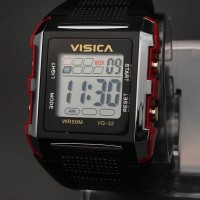 jam tangan anak segi digital sporty water resist visica skmei casio