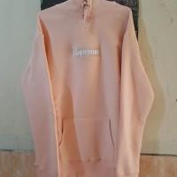 hoodie supreme box logo peach (not bape, off white)