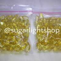 Minyak Ikan Kapsul 100 butir Vitamin Hewan Sugar Gider, Anjing, Kucing