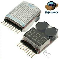 LiPo Buzzer Low Voltage Alarm Indicator Checker Tester Battery 1S - 8S