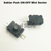 Saklar Push ON-OFF Mini Senter - Switch Tombol 2 kaki