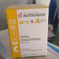 Autocheck cholesterol strip refill isi 10 strips