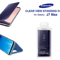 Casing Clear View Standing Cover Flip Mirror Samsung J7 Max (OEM)