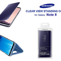 Casing Clear View Standing Cover Flip Cover Mirror Case Samsung Note 8