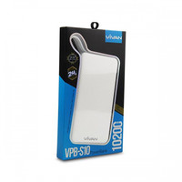 Vivan VPB-S10 10200mAh 2.4A Power Bank with Micro Charging Cable White