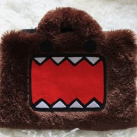 "Domo kun Coklat Face 11""-12"" softcase/tas laptop netbook,notebook lucu"