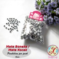 Mata Boneka / Mata Kocak 6mm per pack