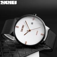 Jam Tangan Analog Pria SKMEI Stainless Steel - 9164 - Silver