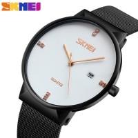 Jam Tangan Analog Pria SKMEI Stainless Steel - 9164 - White