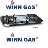 Kompor Semi Tanam Winn Gas Kompor Gas 2 Tungku Glass W888 Kaca Mewah