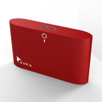 Puku S8 8000mAh 2 USB Ports Power Bank Red