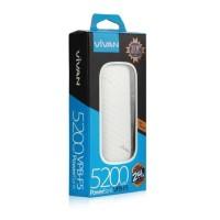 Vivan VPB-F5 5200mAh Single USB 2.4A Power Bank White