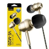 Vivan VE-M20 Super Bass Wired Headset Golden
