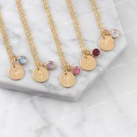 Bauble Bible Fay Monogram Necklace Perhiasan Kalung Inisial Lapis Emas