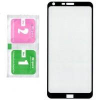 Tempered Glass LG Q6 / Q6+ ( Q6 Plus ) - Anti Gores Kaca Warna Full