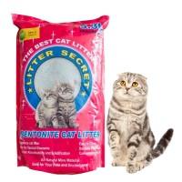 pasir kucing gumpal wangi 5lt bentonite cat litter secret 5.3 lt