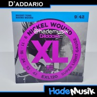 Senar Daddario EXL120 Nickel Wound Gitar Elektrik 9-42 (Original USA)